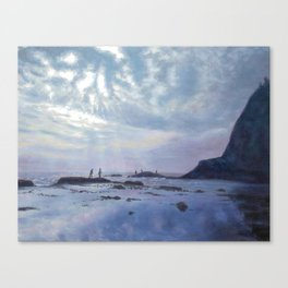 Enoshima Fishing Canvas Print