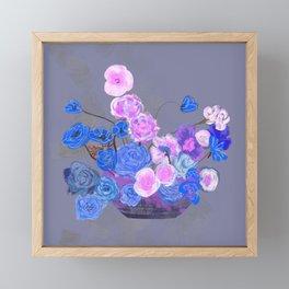 The arrangement in blue Framed Mini Art Print