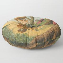 Ode To Beatrix Potter Floor Pillow