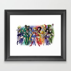 Sailor Scouts! Framed Art Print