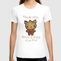 randy c T-shirts featuring Randy the Dirty Boar by Squid&Pig