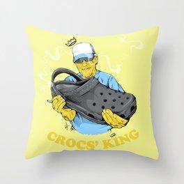 Crocs King Throw Pillow
