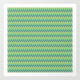 Summer Pattern Green Art Print