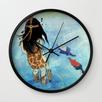 safari Wall Clocks featuring Safari by Zoï-Zoï