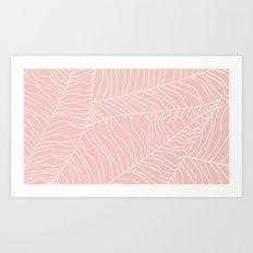 TROPICAL LEAVES - pink palette Art Print