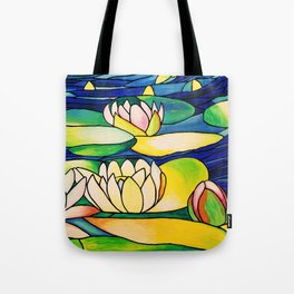 River of Lotus Blossoms Tote Bag