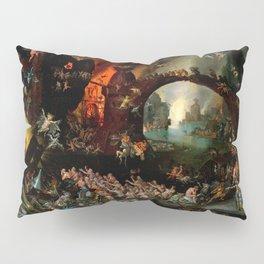 """Jan Brueghel The Elder """"Christ in Limbo"""" (Riggisberg 1593) Pillow Sham"""