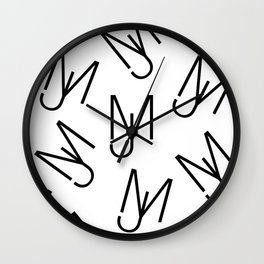 Jeff Martin - Repeating - White Wall Clock