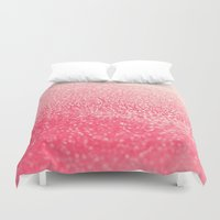 coral Duvet Covers featuring CORAL by Monika Strigel®