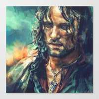 lotr Canvas Prints featuring Elessar by Alice X. Zhang