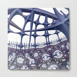 Blocking or enabling connections Metal Print