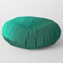 Sea green folding hand fan, fresh and simple summer tropical mood design Floor Pillow
