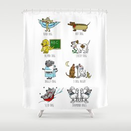 Know Your Dogs Shower Curtain
