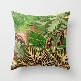 Jardin d'Eden Throw Pillow