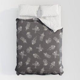 Cosmic Stranger Pattern in Grey Comforters