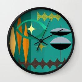 Watching The Watchers Mid Century Modern Geometric Abstract Wall Clock