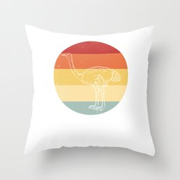 Ostrich Allegedly Funny Sweet Gift Throw Pillow