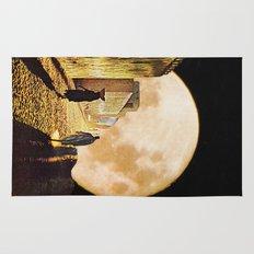 Walking at the moonlight Rug