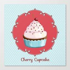 Cherry cupcake Canvas Print