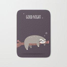 Sloth card - good night Bath Mat