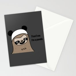 Sloth says trust me, I'm a panda Stationery Cards