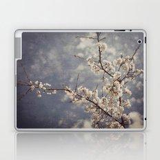 White Blossom Laptop & iPad Skin