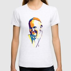 Pope Francis Womens Fitted Tee Ash Grey MEDIUM