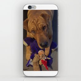 """Toys!"" from the photo series""My dog, PLaY-DoH"" iPhone Skin"