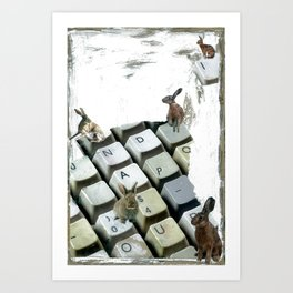 """Words Per Minute"" Art Print"