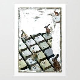 """Words Per Minute"" Art Print"