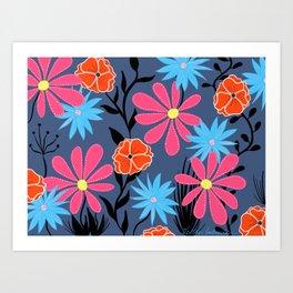 Twilight Blooms Art Print