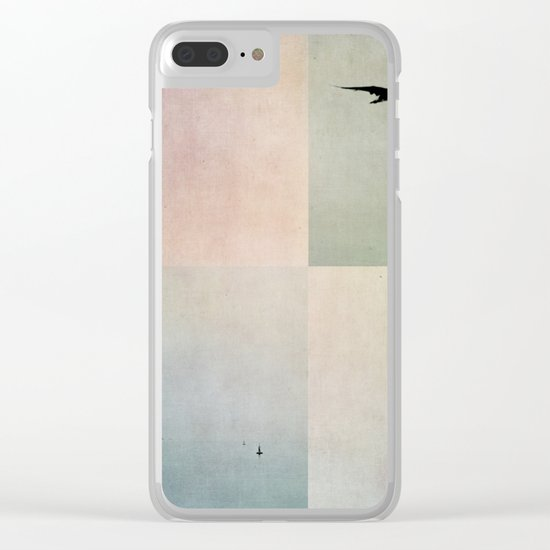 sea color Clear iPhone Case