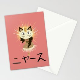 Meowth Girl Stationery Cards