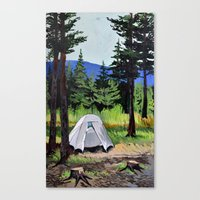 camp Canvas Prints featuring Camp by Kira Yustak