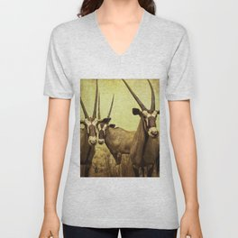 Hi, we are the antelopes. Unisex V-Neck