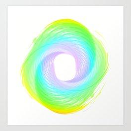 """ Rainbow cloud "" Art Print"