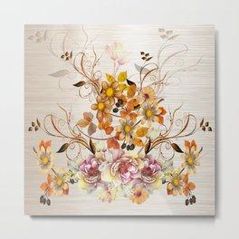 Fall Flower Centerpiece Metal Print