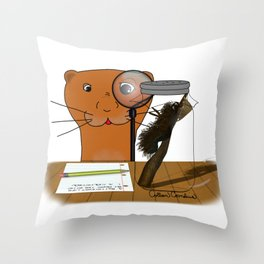 Homeschooling Oliver The Otter - The Caterpillar Throw Pillow