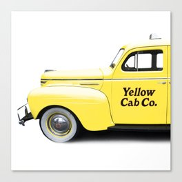 Classic NYC Yellow Taxi Cab Canvas Print