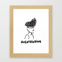 Overthinking Conceptual cartoon art Framed Art Print