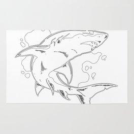 Unique Whale Art Rug