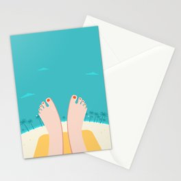 Feet on Beach Stationery Cards