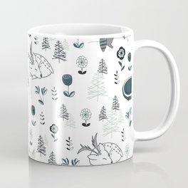 Sleepy Woodland Animals - Mint Coffee Mug