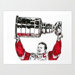 Yzerman - Cup Art Print