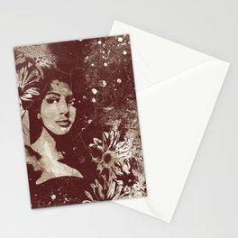 untitled #28914: Amaranth (sunflower bikini girl) Stationery Cards