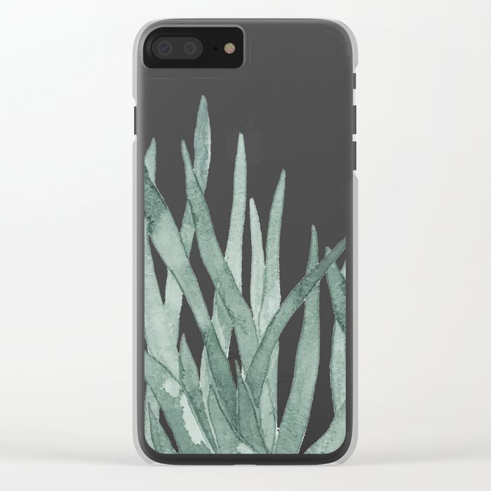 Watercolor snake plants Clear iPhone Case