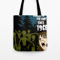 the walking dead Tote Bags featuring Walking Dead by grawiton