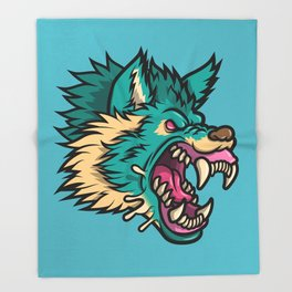 Cold Harsh Wolf Throw Blanket