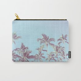 Vintage palm trees (blue) Carry-All Pouch