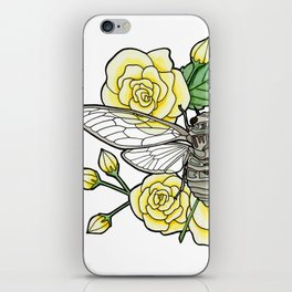 Cicada with Roses iPhone Skin